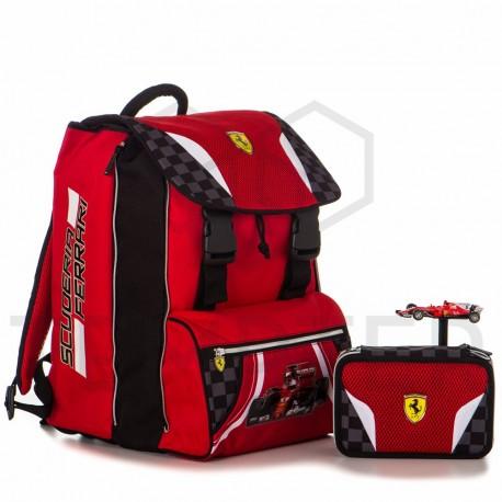 41c7c7df2a Scuderia Ferrari zaino Estensibile + astuccio triplo + macchina in regalo
