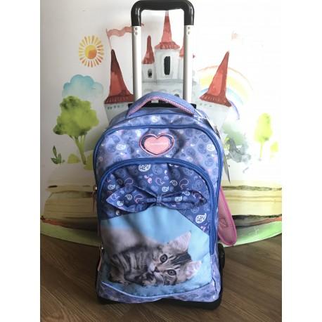 l'atteggiamento migliore fd4dc 88fbd zaino trolley staccabile celeste gatto carry rachael hale